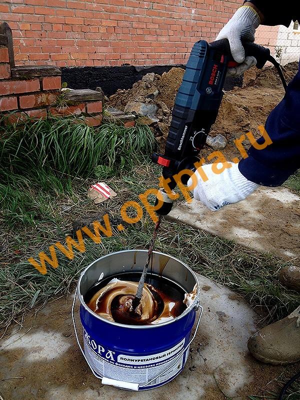 Приготовление герметика Ижора фото