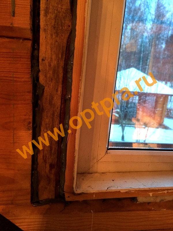 Утепление рамы окна фото