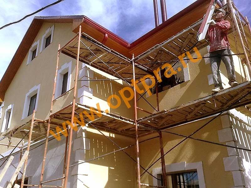 Теплоизоляция фасада дома в пос.Щеглово