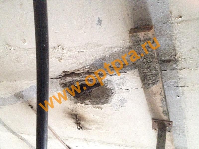 Инъектирование плиты перекрытия