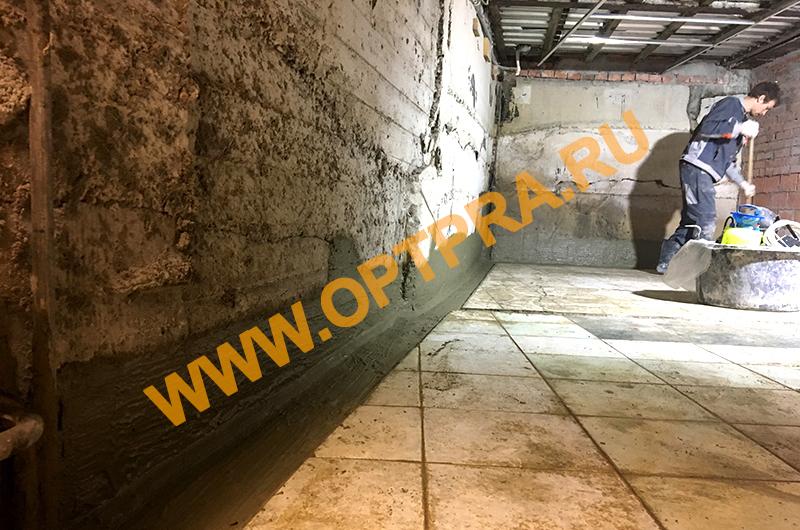 гидроизоляция бетона в погребе