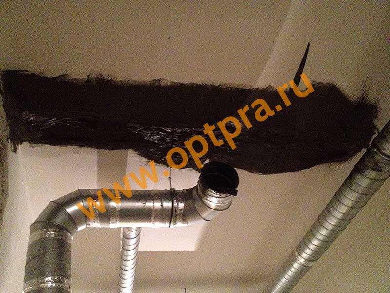 Обмазочная гидроизоляция потолка