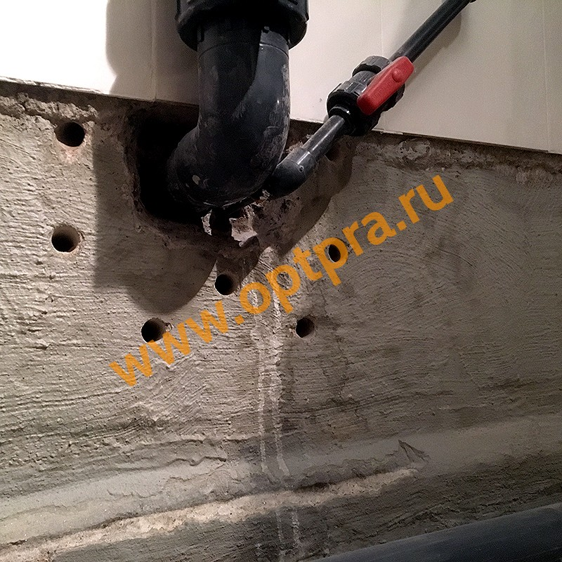 Инъектирование бетона, гидроизоляция труб
